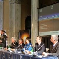 Un momento dell'incontro con Samanta Cristoforetti a Milano - Foto Manuel Paa