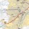 Schema della Metropolitana di Torino, in blu la linea 1 già in servizio, in viola e rosso i lotti per la realizzazione della Linea 2