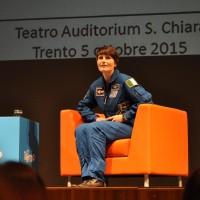 Samanta Cristoforetti durante l'incontro a Trento - Foto Francesco Liberali