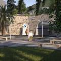 Accesso alla stazione sotterranea di Cefalu - Rendering RFI