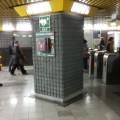 Defibrillatore nella stazione della metropolitana di Milano - Foto ATM