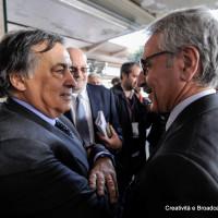 Il sindaco di Palermo Leoluca Orlando e l'amministratore Delegato di RFI Maurizio Gentile - Foto Gruppo FS Italiane