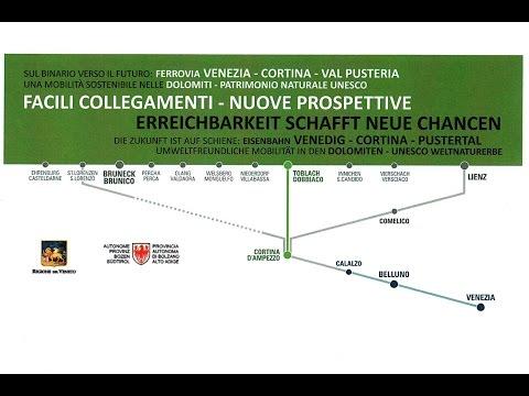 VIDEO - In treno a Cortina, siglato accordo per la ferrovia delle Dolomiti