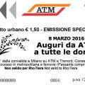 Biglietto speciale ATM 8 marzo