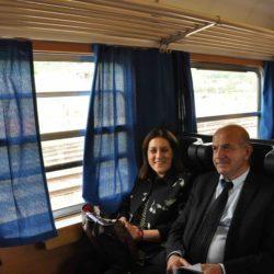 Il presidente della Regione Umbiria Catiuscia Marini e l'assessore ai Trasporti Giuseppe Chianella - Foto Regione Umbria