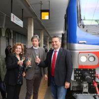 Morgante e Donini a Rimini con il nuovo Vivalto - Foto FS Italiane