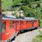 Le elettromotrici A8 e A9 della ferrovia Genova-Casella nella nuova livrea integrale rossa - Foto Daniele Barrella