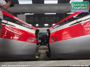 Accoppiamento di due ETR400 Frecciarossa 1000 - Foto Daniele Barrella