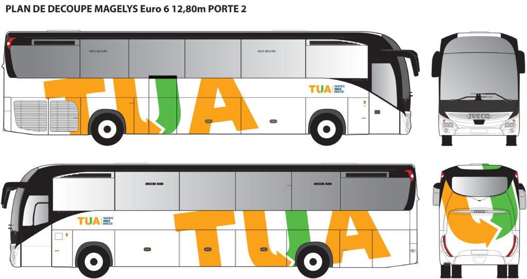 Iveco Magelys per i collegamenti Roma - L'Aquila - Render TUA Abruzzo S.p.A.