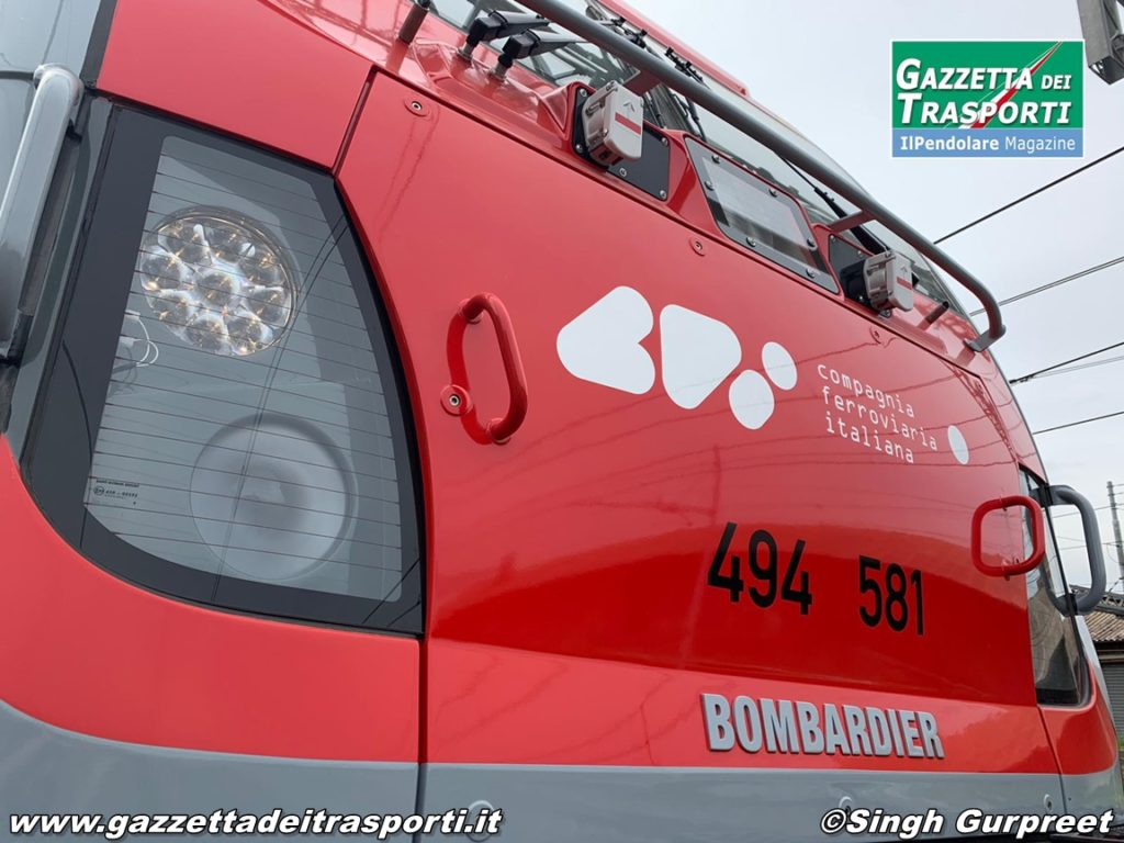 Frontale della E494.581 di CFI - Compagnia Ferroviaria Italiana
